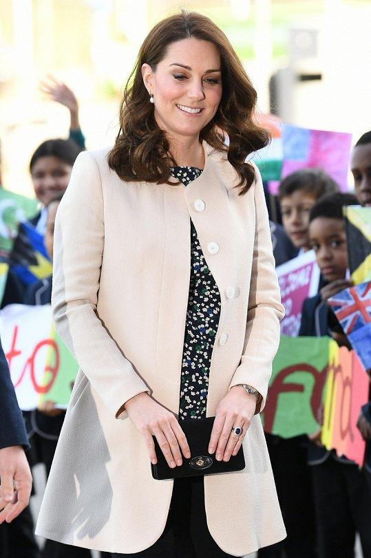 Vévodkyně pár týdnů před porodem