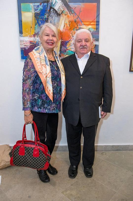 Marián Labuda s manželkou Vierou