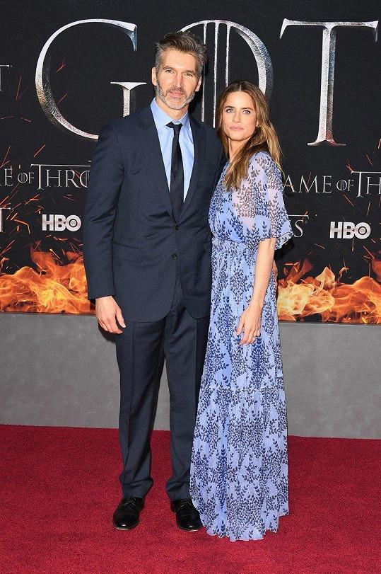 Amanda s manželem, který je spolutvůrcem seriálu Hra o trůny.
