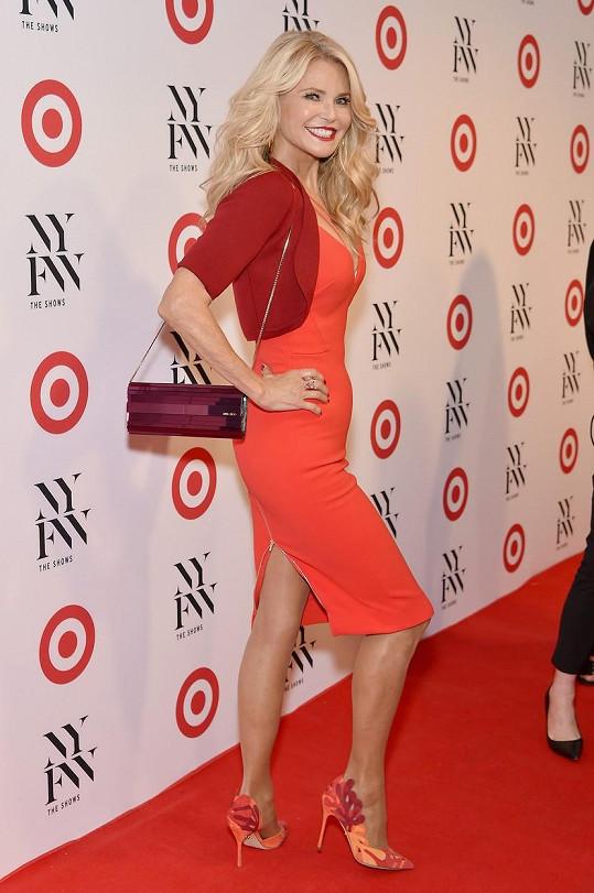 Christie Brinkley na párty k zahájení newyorského fashion weeku