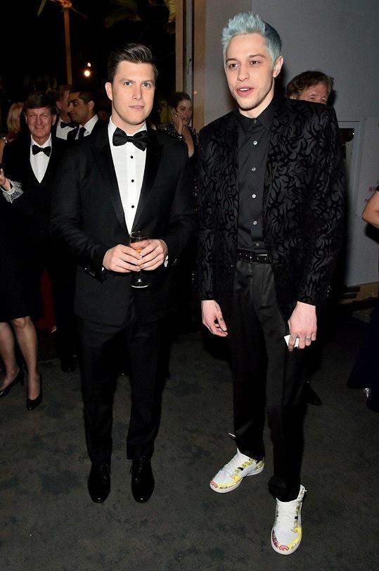 Hereččin partner Colin (vlevo) s kolegou Petem Davidsonem.
