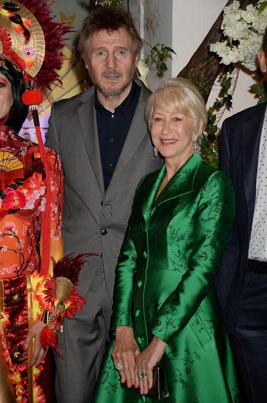 Helen Mirren a Liam Neeson spolu žili čtyři roky.