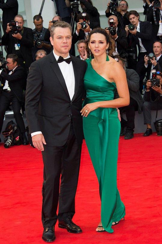 Na premiéru dorazil i Matt Damon s manželkou.
