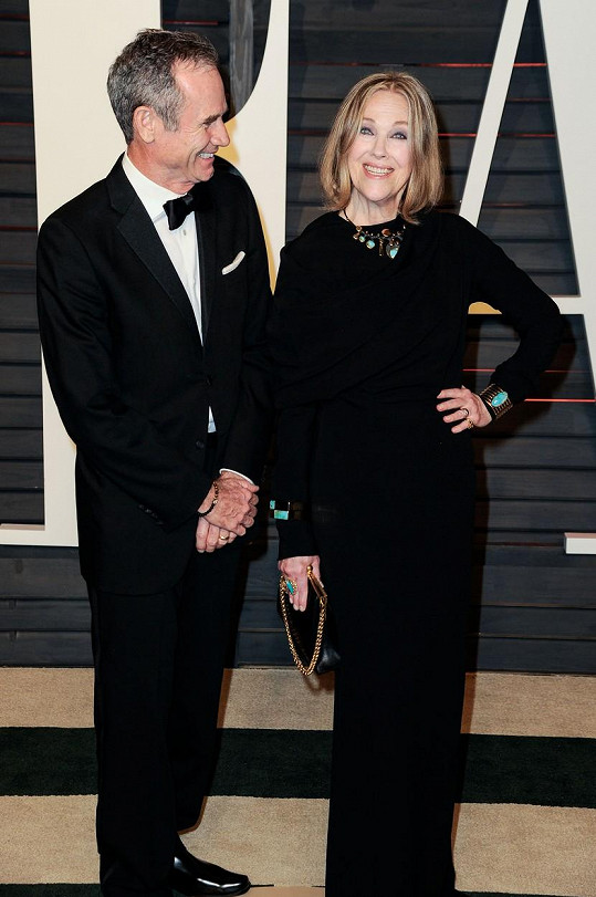 Herečka s manželem Bo Welchem na Vanity Fair párty