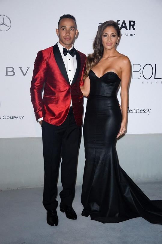 Nicole Scherzinger a Lewis Hamilton