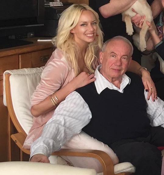 Kate Mátl s tatínkem.