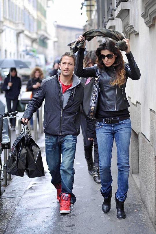 Marcus s bývalou partnerkou George Clooneyho Elisabettou Canalis, s níž tvořil pár v roce 2013.