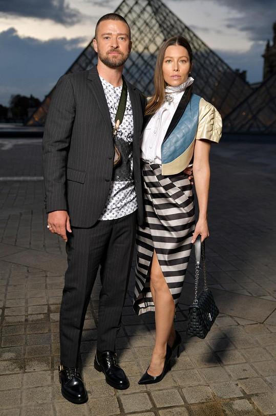 Justin Timberlake s manželkou Jessicou
