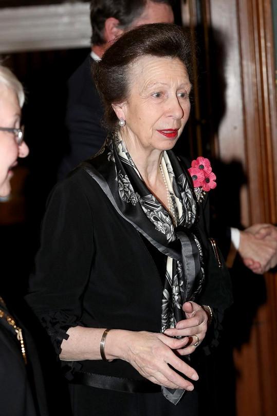 Anne Mountbatten-Windsor na aktuálním snímku