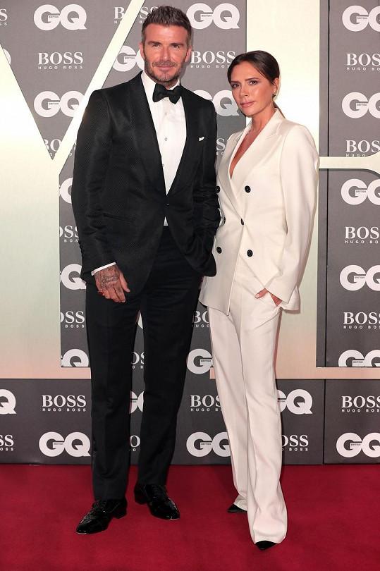 Victoria Beckham s manželem Davidem