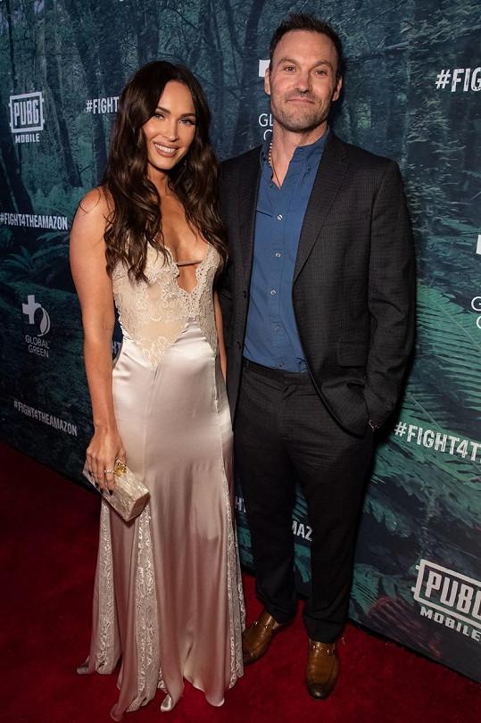 S exmanželkou Megan Fox. Rozchod oznámili loni v květnu.
