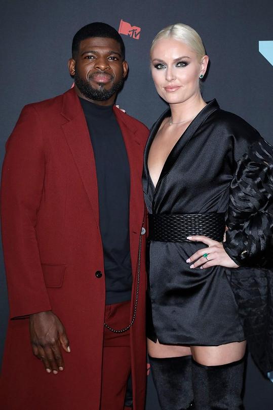 Lindsey Vonn a P.K. Subban se nedávno zasnoubili.