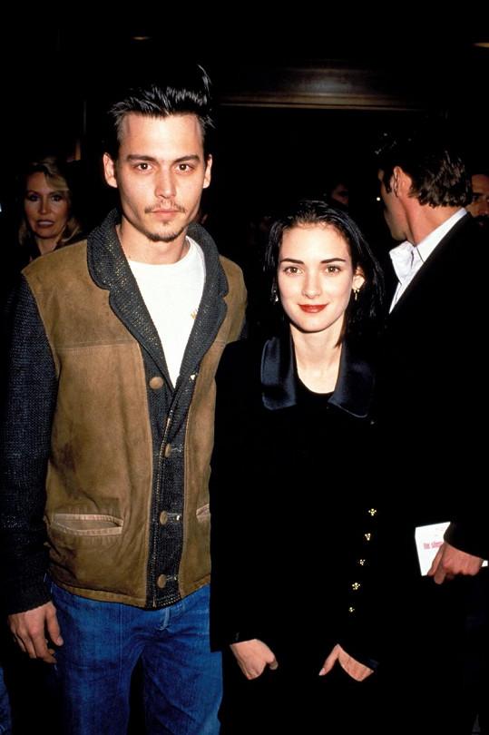 Johnny Depp a Winona Ryder tvořili pár v letech 1989-1993.