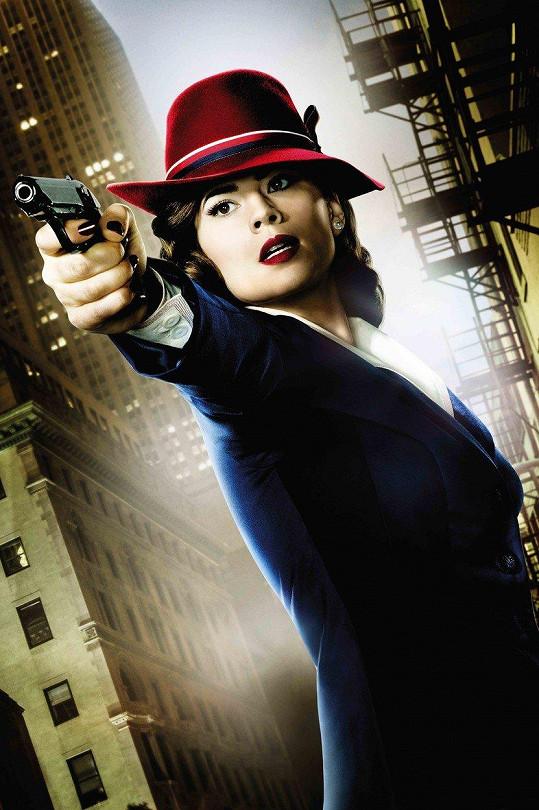 Hayley je představitelkou marvelovské postavy Peggy Carter