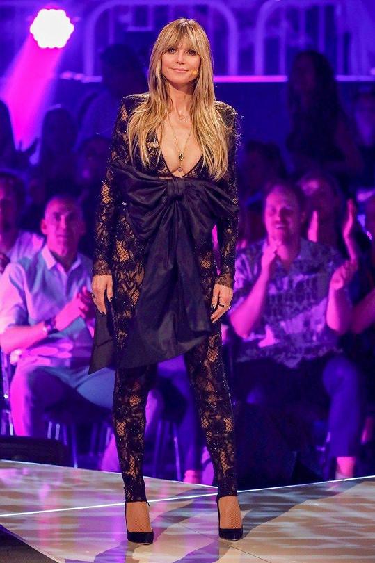 Heidi Klum uváděla soutěž Německo hledá topmodelku.