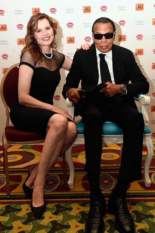 Geena Davis a slavný americký boxer Muhammad Ali