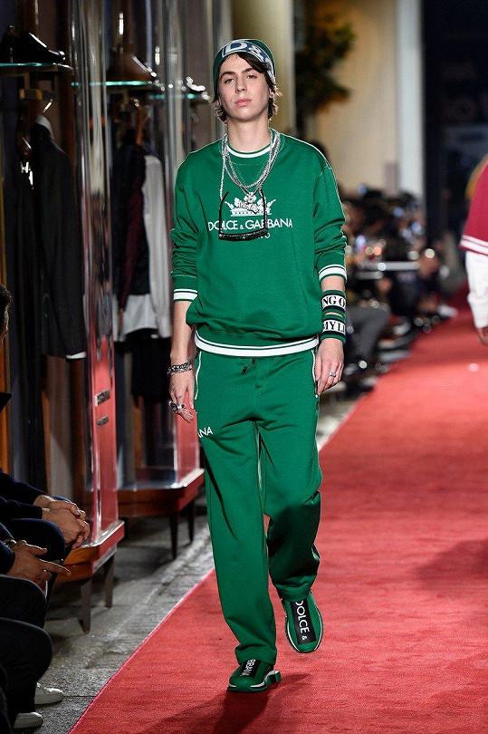 Charlie loni na přehlídce značky Dolce & Gabbana