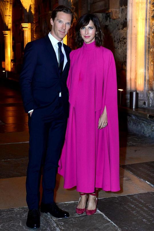 Benedict Cumberbatch s manželkou