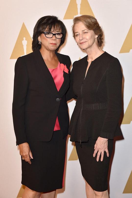 Charlotte Rampling s prezidentkou Americké filmové akademie Cheryl Boone Isaacs