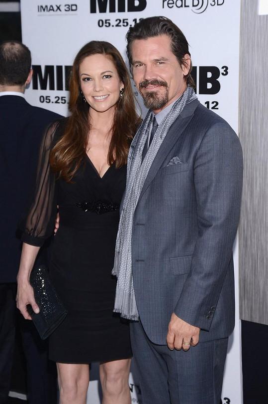 Josh Brolin s exmanželkou Diane Lane.