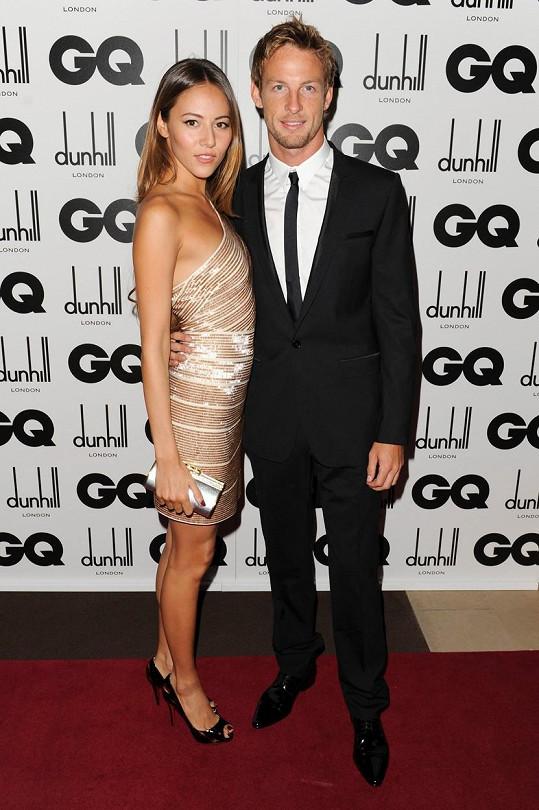Jessica s bývalým manželem Jensonem Buttonem