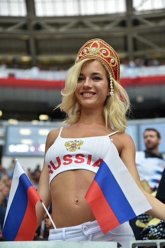 Natalia okouzlila hráče i fanoušky.