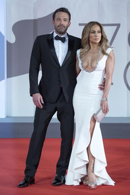 Jennifer Lopez a Ben Affleck na filmovém festivalu v Benátkách