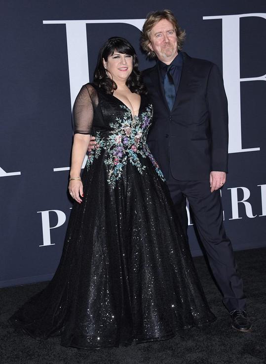 E. L. James s manželem Niallem Leonardem
