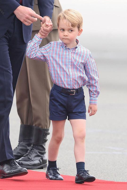 Princ George vypadal nedůvěřivě.