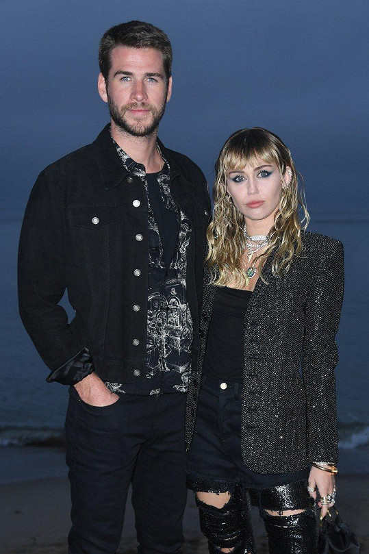 Liam Hemsworth s manželkou Miley Cyrus