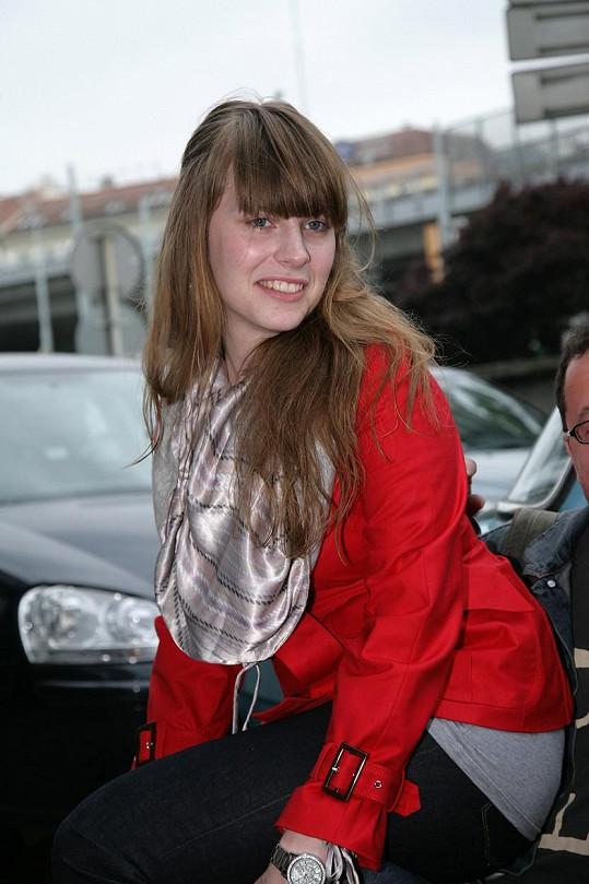 Takhle vypadala Petra Nesvačilová v roce 2008.