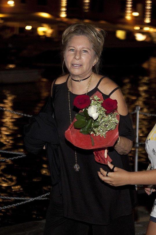 Barbra Streisand (75) na letní dovolené v Itálii