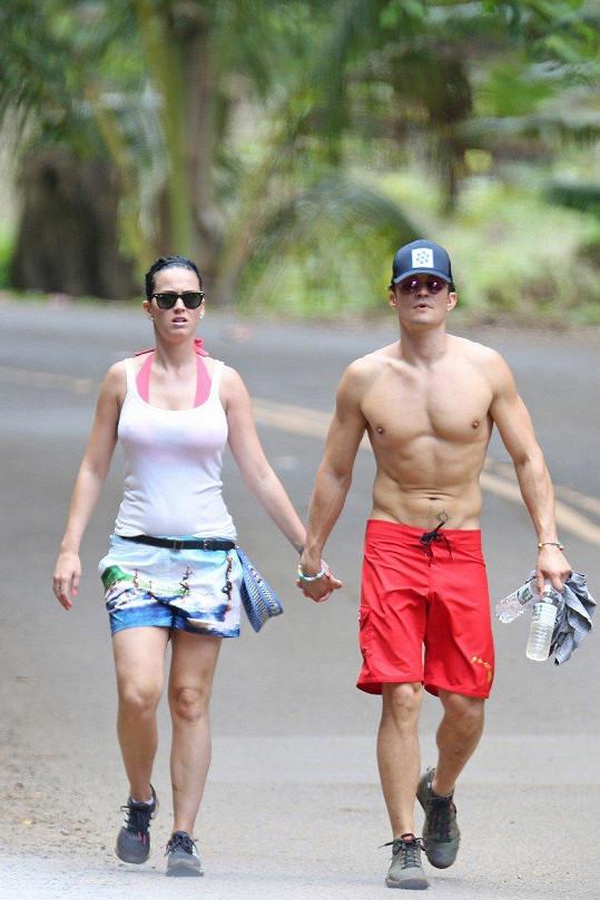 Katy Perry a Orlando Bloom na jedné z mála společných fotek. Jejich vztah skončil v březnu.