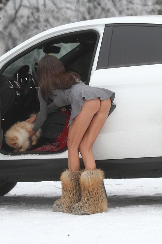 Soraja Vucelic zimu moc neřeší.