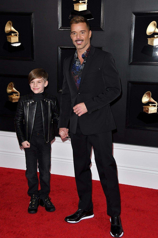 Se synem Matteem na udílení Grammy