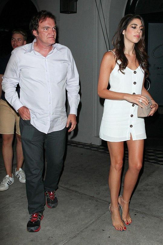 Quentin Tarantino vzal snoubenku Danielu Pick na večeři.