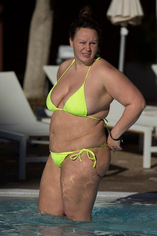 Chanelle Hayes se už zase dala na hubnutí.