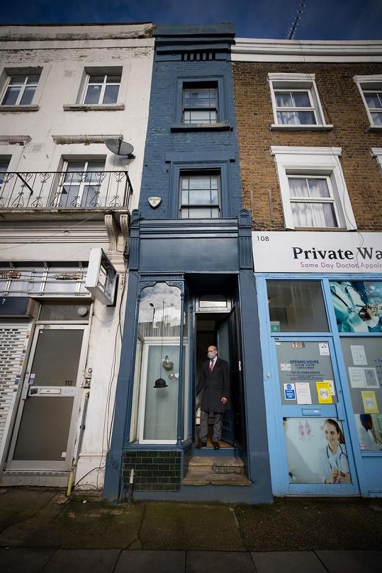 Nejužší dům v Londýně je na prodej za 28 miliónů korun.