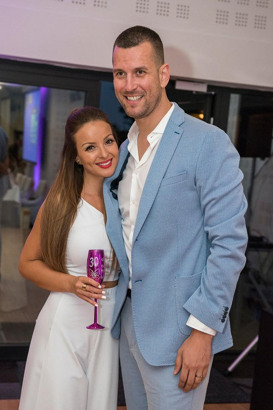 Veronika s manželem Tomášem Krúpou