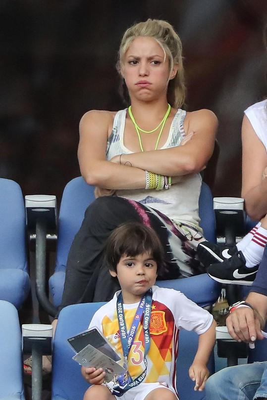 Shakira byla po prohře s Itálií hodně zklamaná.