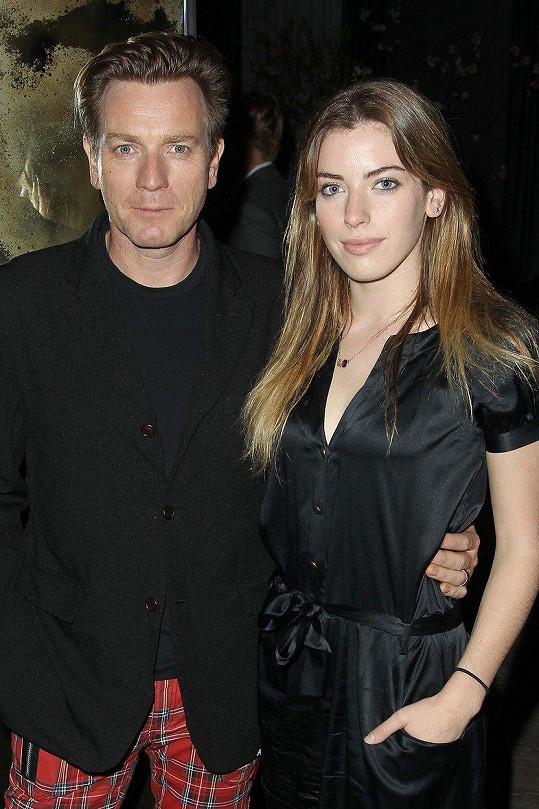 Clara s otcem Ewanem McGregorem