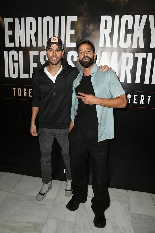 Enrique Iglesias letos vyráží na turné s Rickym Martinem.
