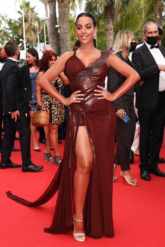 Georgina Rodriguez se zúčastnila premiéry filmu France v Cannes.