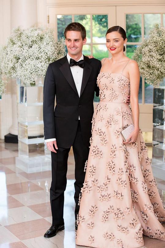 Miranda Kerr a Evan Spiegel jsou krásný pár.