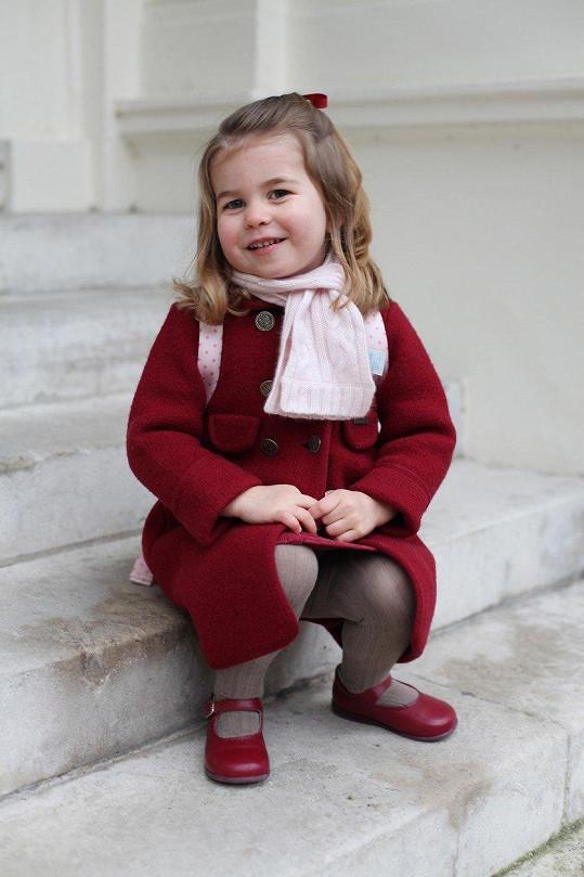 Takhle ji zachytila pyšná máma, princezna vypadá kouzelně.