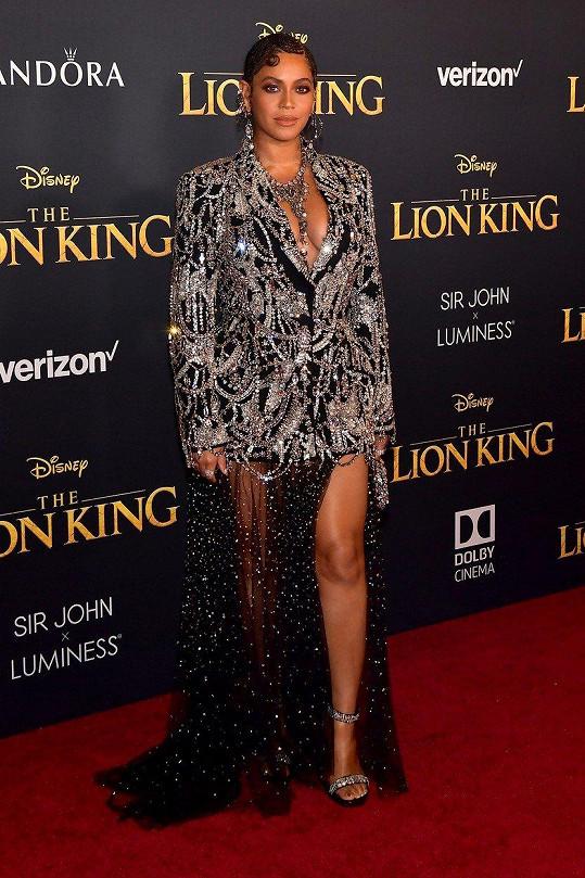 Beyoncé na premiéře Lvího krále