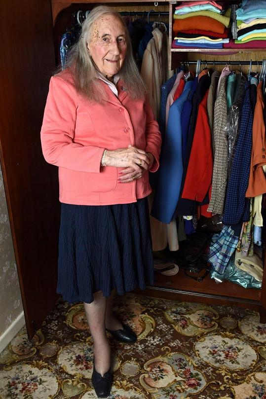 Patricia se pochlubila svou garderobou.