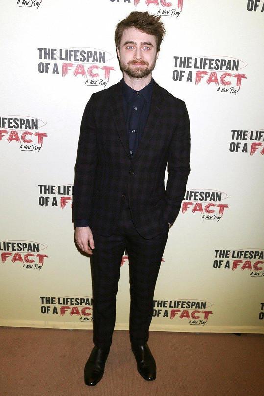 Daniel Radcliffe po enormním úspěchu Harryho Pottera neusnul na vavřínech.