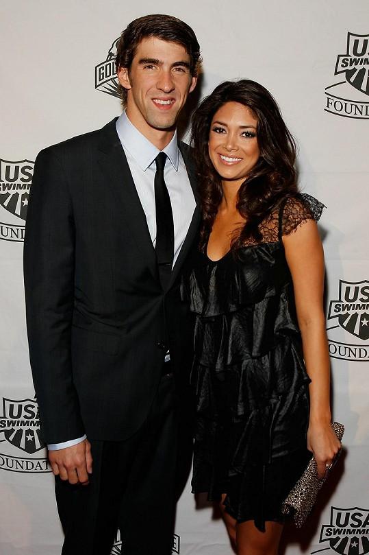 Michael Phelps se snoubenkou Nicole Johnson