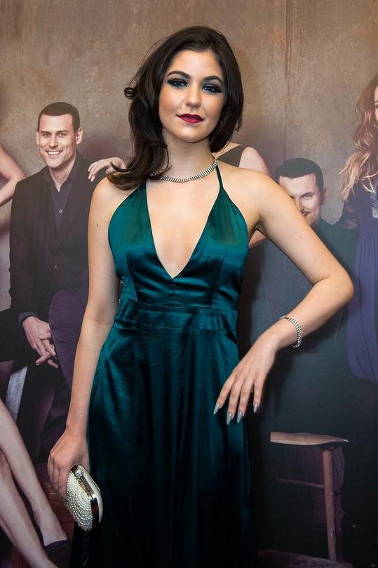 Celeste Buckingham na udílení slovenských televizních cen OTO